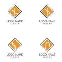 diseño de plantilla de logotipo de icono de ilustración de vector de flecha