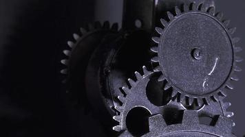 Grunge Clock Gears Industrial Tech Concept video