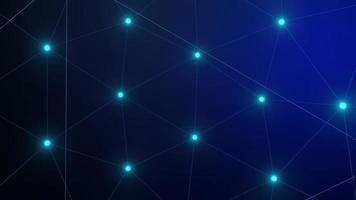 Fondo de plexo azul de alta tecnología en un bucle video