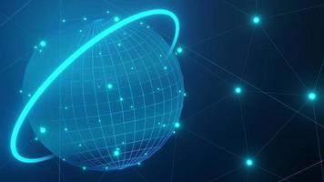 Fondo de plexo de alta tecnología global en un bucle video