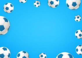 Soccer balls. Social media message vector background. Copy space for a text