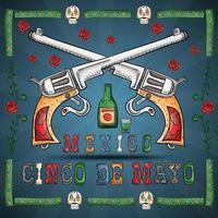 Illustration design on the Mexican theme of Cinco de mayo celebration vector