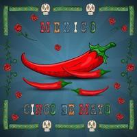 diseño de ilustración sobre el tema mexicano de la celebración del cinco de mayo vector
