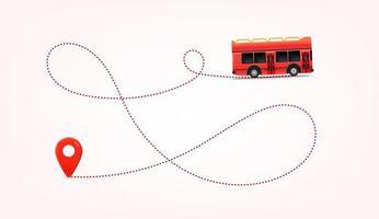 viaja por autobus. ilustración vectorial de viajes de verano vector