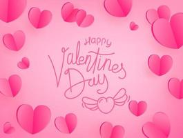Happy Valentines day greeting card. Template for greeting card, cover, presentation vector