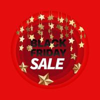 Black friday card with text vector