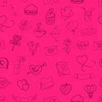 Valentines day elements seamless background vector