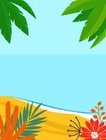 Summer landscape background with copy space for text vector