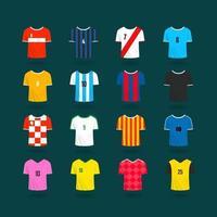 muestras de color de camisetas del equipo de fútbol. Imágenes Prediseñadas de vector