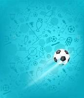 balón de fútbol sobre fondo azul vector