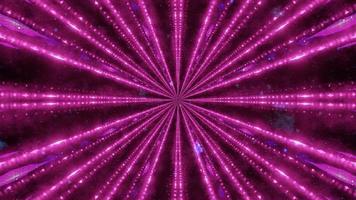 Ilustración 3D de túnel con rayos de luz de neón foto