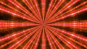 Ilustración 3d del túnel iluminado por rayos de luz roja foto