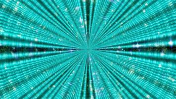 Ilustración 3d de brillantes rayos de neón con destellos foto