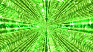 Futuristic abstract background of neon green rays in 3D illustration photo
