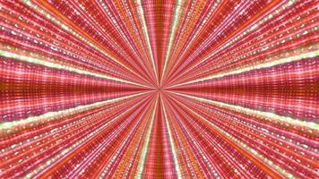 Ilustración 3d de rayos de neón multicolores foto
