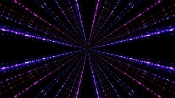 Violet neon rays 3D illustration photo