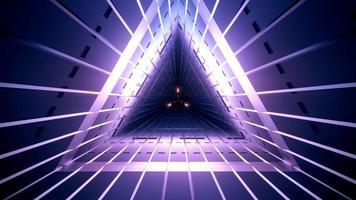 Ilustración 3d de túnel violeta oscuro foto