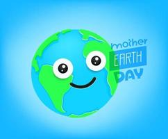 Mother Earth Day vector greeting card