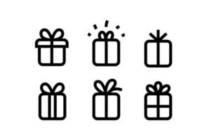 Gift box icons vector collection isolated on white