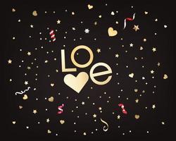Confetti of stars and hearts. Valentines Day concept vector