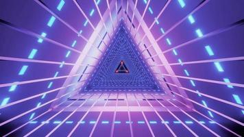 3D illustration of futuristic triangle tunnel photo