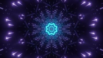 Blue and purple neon pattern 3d illustration photo