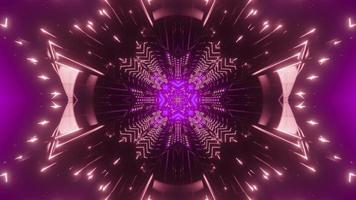 Shiny geometric background with neon lights 3d illustration photo