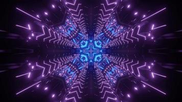 Geometric pattern of neon illumination 3d illustration photo