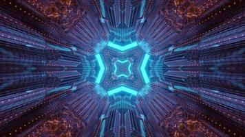 Interior futurista del túnel de ciencia ficción ilustración 3d foto