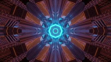 Abstract tech geometric background 3d illustration photo