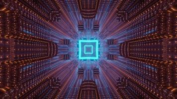 Ilustración 3d de fondo abstracto de arquitectura futurista foto