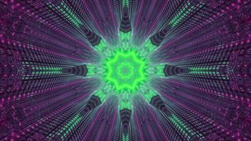 Ilustración 3d de adorno de neón psicodélico foto