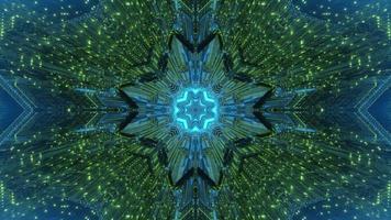 Fondo futurista abstracto ornamental con efectos de luz ilustración 3d foto