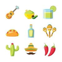 Cinco De Mayo Icon Set vector