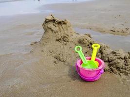 Beach bucket and shovel toys photo
