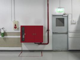 Fire hose cabinet and fire extinguisher equipment