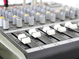 Sound audio mixing console photo