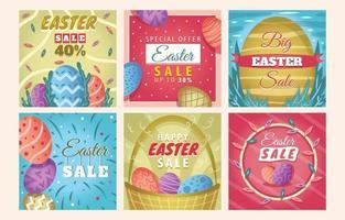 Easter Sale Template Design for Social Media Post vector