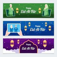 Happy Eid Al Fitr Banner Template vector