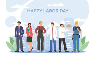 Labor Day Character Collection vector