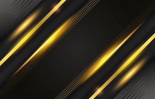 fondo brillante de lujo negro y dorado vector