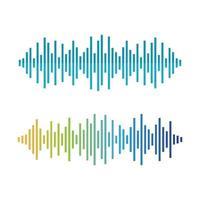 Sound wave images set vector