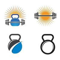 Ilustración de imágenes de logo de gimnasio vector