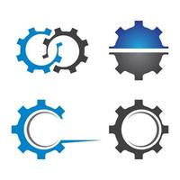 Gear logo images set vector