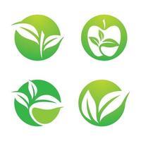 Ecology logo images illustration set vector