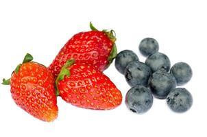 fresas y arándanos foto