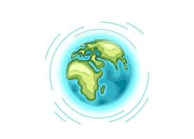 Around the world travelling vector concept