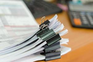 clips en documentos foto