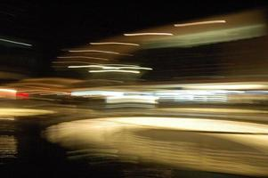 Blurred motion of lights photo