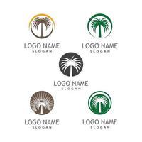 Date tree icon vector illustration logo template